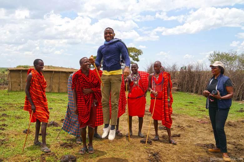 Gilbert on duty in Kenya