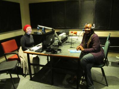 Funke (R) in Rhodes University, SA